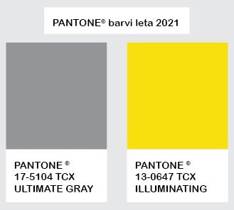 ULTIMATE GRAY & ILLUMINATING - Pantone barvi leta 2021